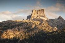 Pôr do sol no pico de Averau — Fotografia de Stock