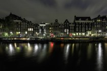 Amsterdam Canal House and floating houses in Amsterdam, Holland — Stock Photo