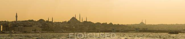 Istanbul skyline seen from the Bosphorus Strait — Stock Photo