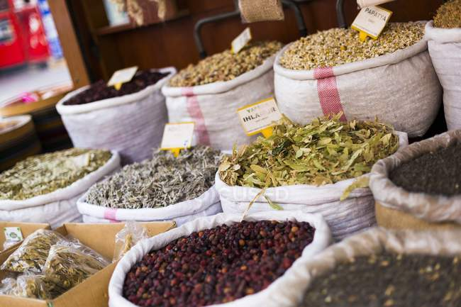 Turkish spices for sale — Stock Photo