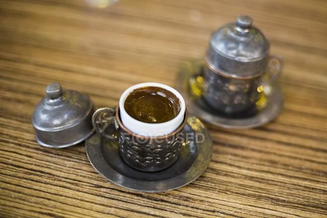Tazze di caffè turco tipico — Foto stock