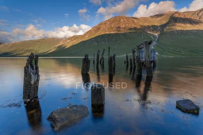 Vieux port à Loch Etive — Photo de stock