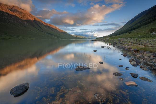 Loch Etive au coucher du soleil — Photo de stock