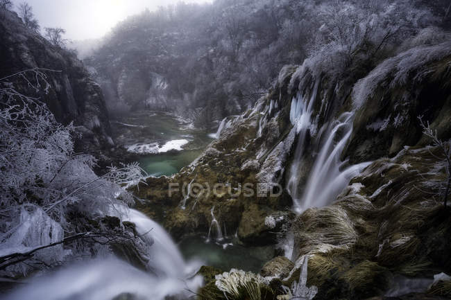 Wasserfälle in Plitvice Nationalpark — Stockfoto