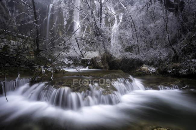 Водопады в национальном парке Плитвицкие озера — стоковое фото