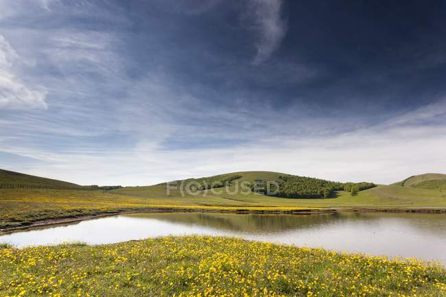 Pantani of Accumuli Lakes — Stock Photo