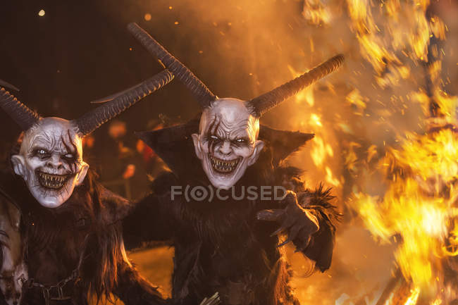 Krampus horrific demon — Stock Photo