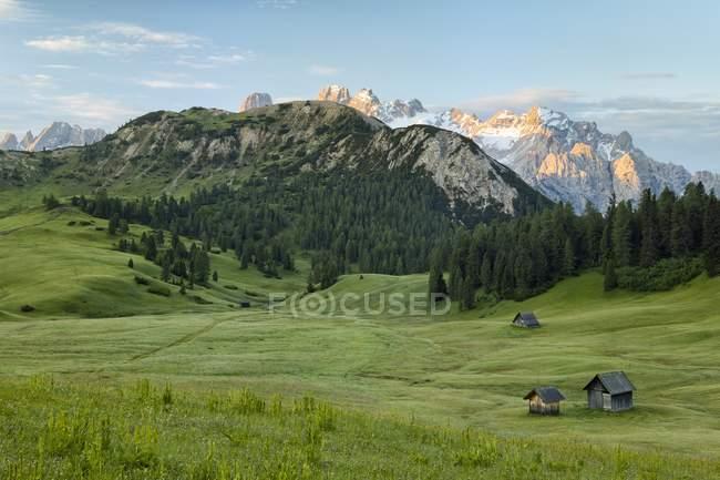Alba Prato Piazza Plateau — Foto stock