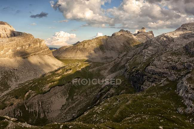 Mountain ridges of Dolomites of Brenta — Stock Photo