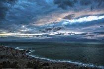 Схід сонця над Мертвого моря — стокове фото
