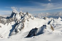 Rugged mountain range of french alps — Stock Photo
