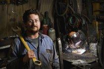 A mechanic and a welder;Edmonton, alberta, canada — Stock Photo
