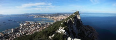 Вид на побережье; Гибралтар — стоковое фото