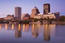 Genesee River e Rochester Skyline — Foto stock