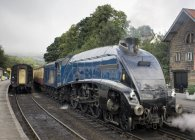 Sir Nigel Gresley Steam Locomotive — Stock Photo