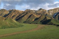 Chugach Berge mit Klippen — Stockfoto