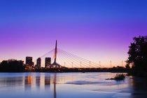 Esplanade Riel pont — Photo de stock