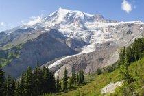 Снігом вершини гір — стокове фото