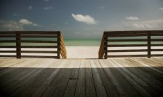 Waterfront wooden Deck — Stock Photo