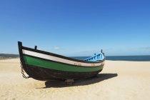 Fisherman Boat On Beach — Stock Photo