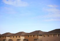 Row Of Roofs against sky — Stock Photo