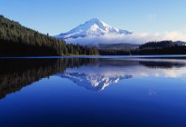 Trillium Lake With Reflection Of Mount Hood — Stock Photo