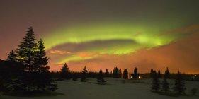 Aurores boréales dans le ciel — Photo de stock