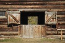 Barn With Open Doors — Stock Photo