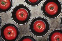 Pomodori in padella muffin — Foto stock