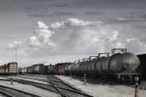 Transport Of Goods on railway — Stock Photo