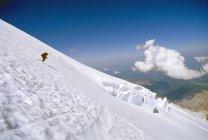 Sciatore sul ghiacciaio di Emmons — Foto stock