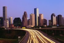 Houston City am Abend — Stockfoto