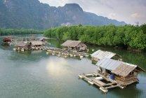 House Boats And Fish Farm — Stock Photo