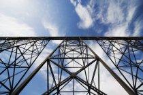 Железнодорожный мост в Летбридже — стоковое фото