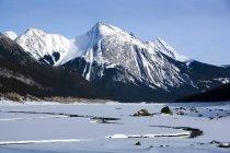 Pics de montagne enneigés — Photo de stock