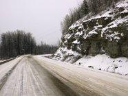 Winter snowy road — Stock Photo