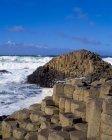 Хвилі тисне на березі — стокове фото