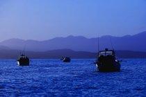 Рыбацкие лодки в море — стоковое фото