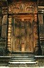 Doorway with decorative door — Stock Photo