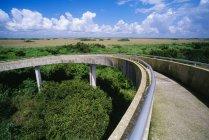 Спираль асфальтовая дорожка — стоковое фото