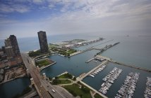 Aerial view of Harbor — Stock Photo