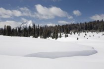 Snow Drifts And Mountains — Stock Photo