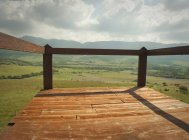 Terrace Overlooking Valley — Stock Photo