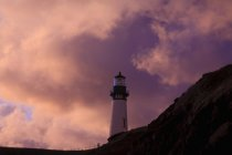 Storm Clouds Over Yaquina Head Lighthouse — Stock Photo