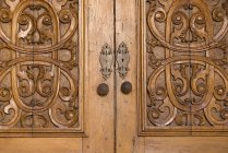 Carved Wooden Doors — Stock Photo