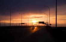 Route avec circulation — Photo de stock