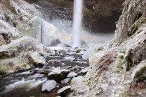 Tempête de glace de Latourell Falls — Photo de stock
