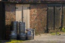 Barrels Piled Up — Stock Photo