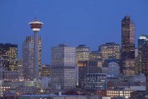 Skyline di Calgary di notte — Foto stock