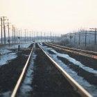 Ice Along Train Tracks — Stock Photo